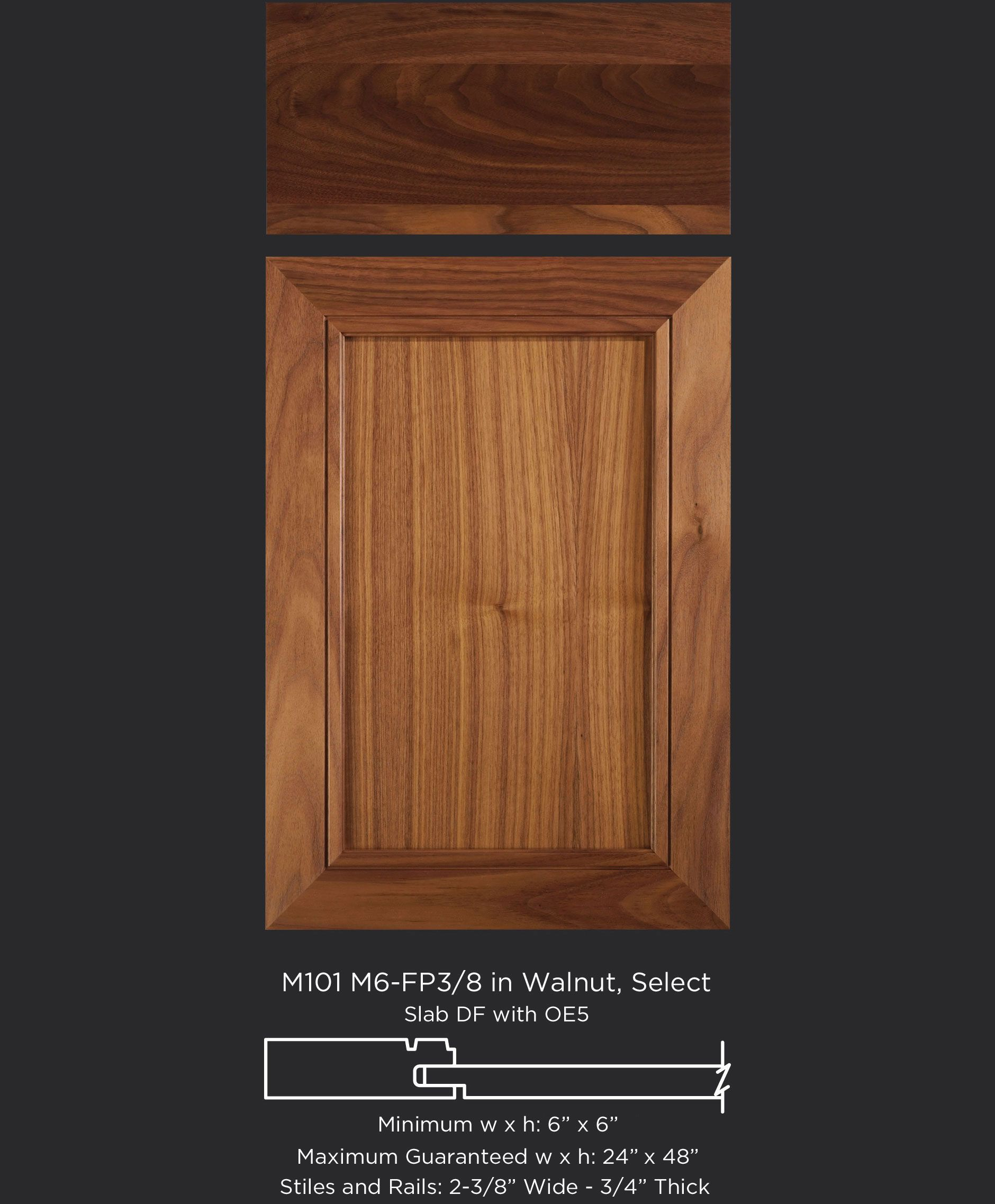 Slab kitchen cabinets  M MFP Walnut Select  Dining Room Door Style  SheaHead