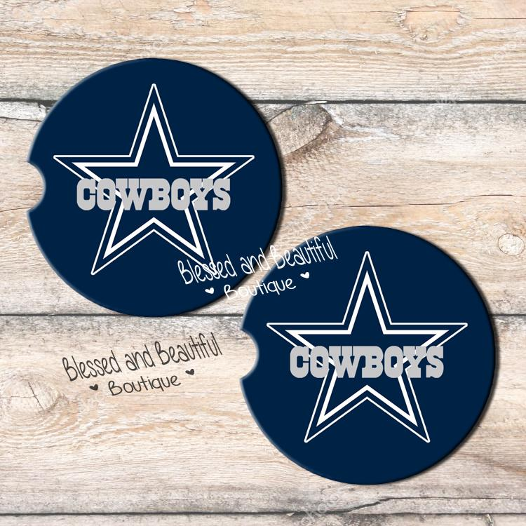 9f422994 Dallas Cowboys Car Coasters Car Coasters are made from a premium absorbent  natural sandstone material and make the perfect gifts too!