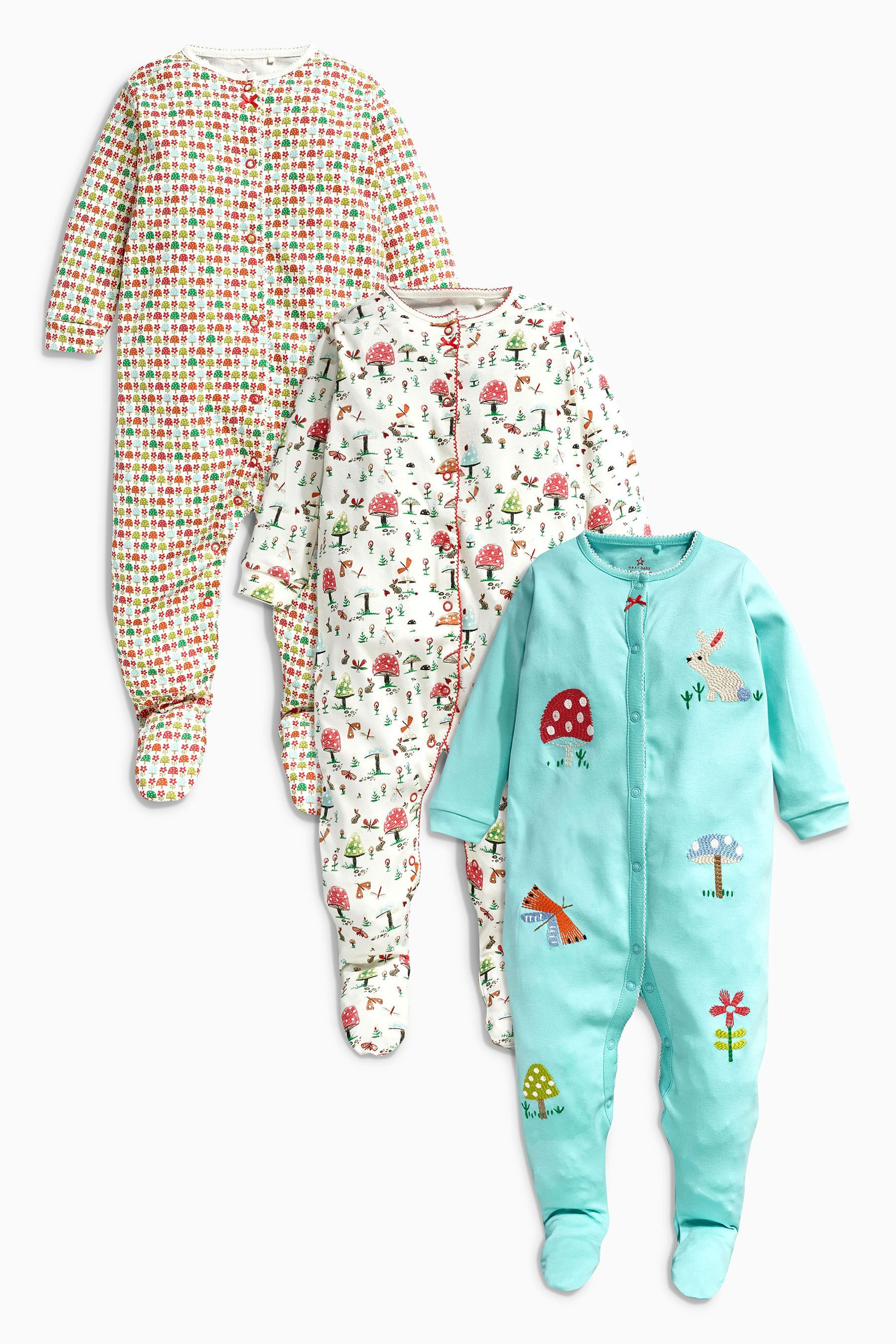 One-pieces Next Baby Boy Fleece Sleepsuits 3-6 Months