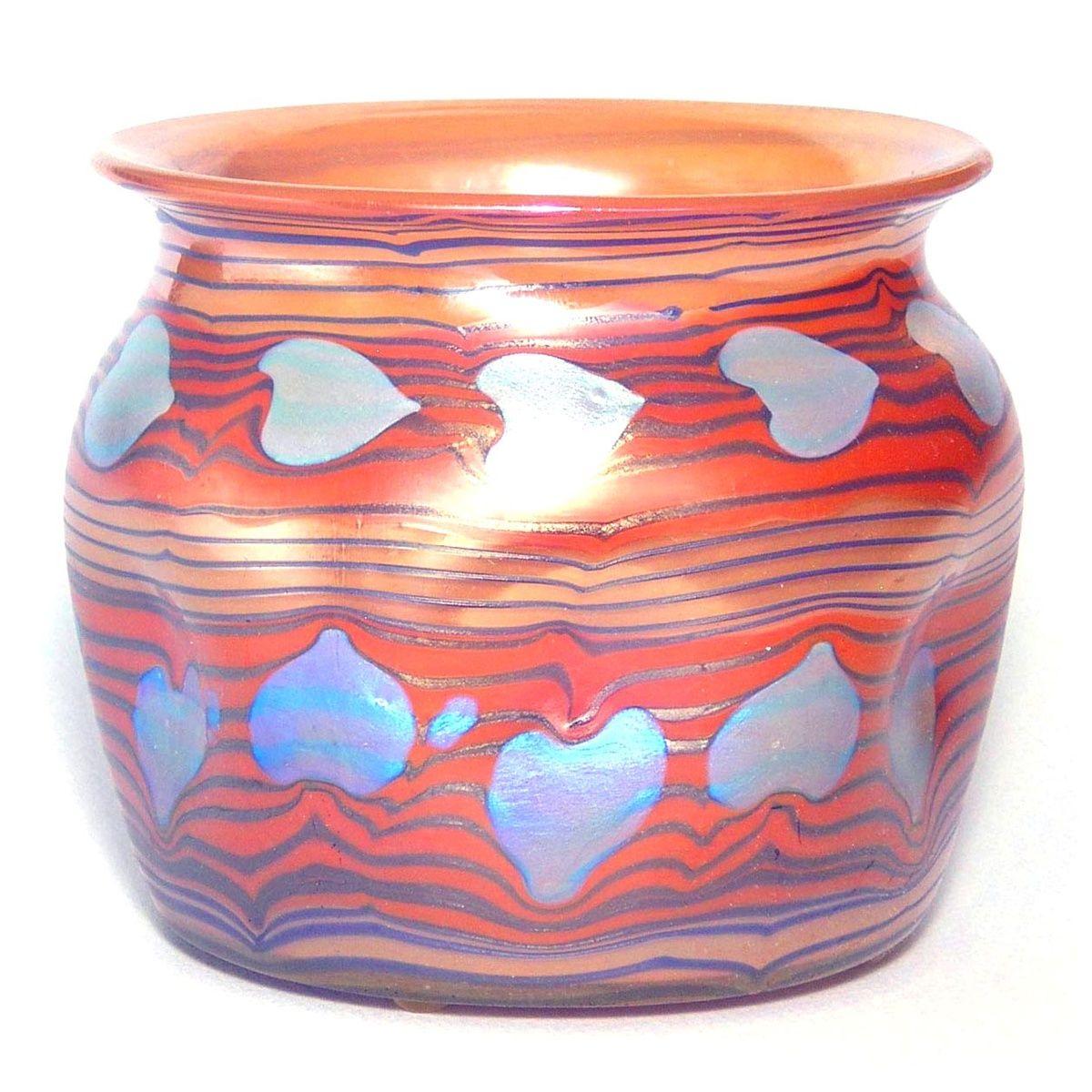 ** Johann Lötz Witwe, Klostermühle, Iridescent Glass Vase.