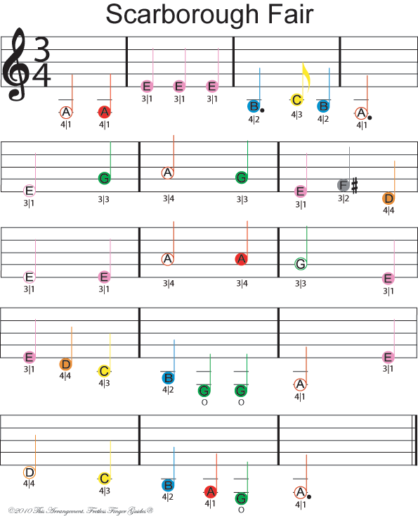 Free Easy Piano Sheet Music Score Scarborough Fair: Free Violin Sheet Music - Scarborough Fair