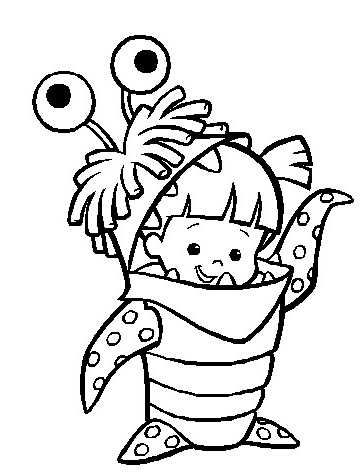 Boo Monsters Inc Printable Coloring Page Coloring Pages Disney Coloring Pages Monster Crafts