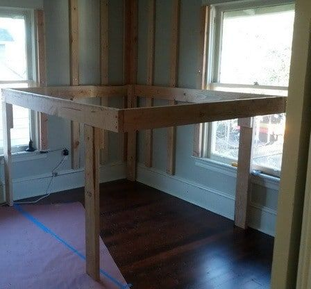 Diy Elevated Kids Bed Frame With