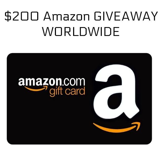 200 Amazon Gift Card Giveaway Sorteo Concours Worldwide Free