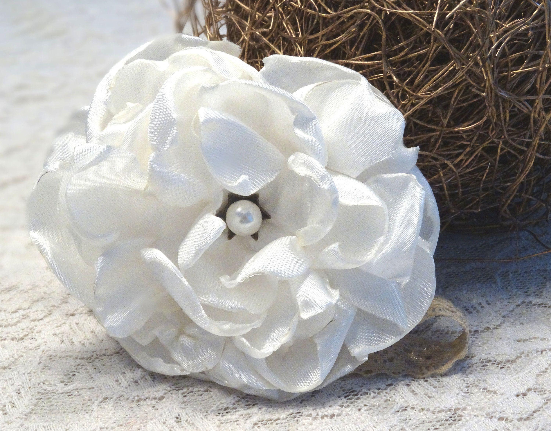 Stirnband Blüte Haarband Baby Mädchen Taufe Haarschmuck Kopfband Weiß Blume
