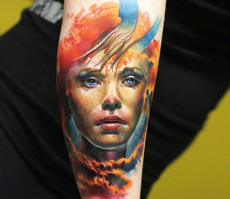 Image result for color womans face tattoo face tattoos