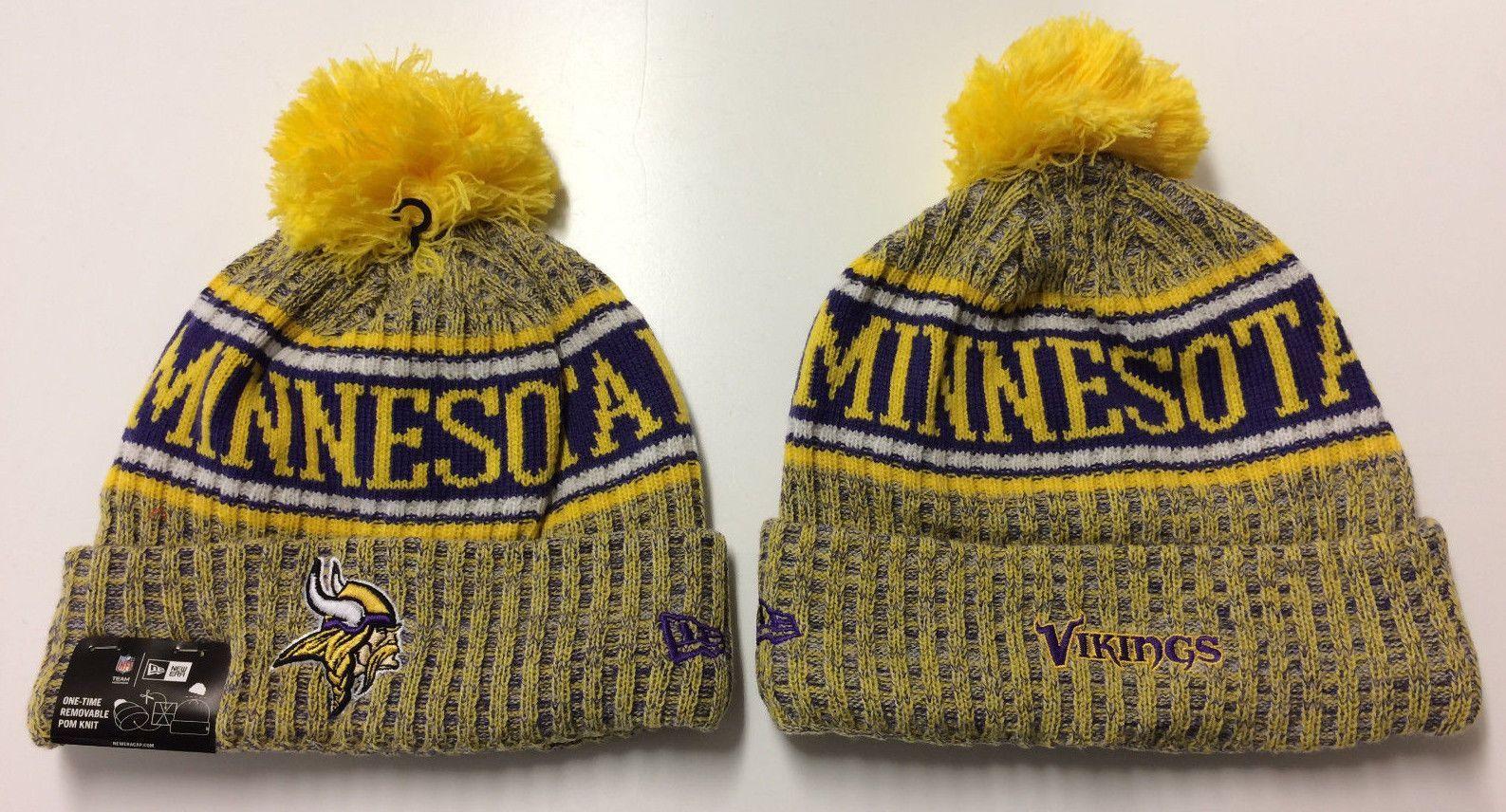 Minnesota Vikings New Era Knit Hat On Field 2018 Sideline Beanie Stocking Cap