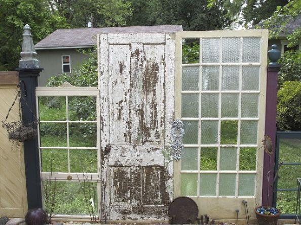 The Fence (recycling Old Doors and Windows) Pinterest - Windows Fences