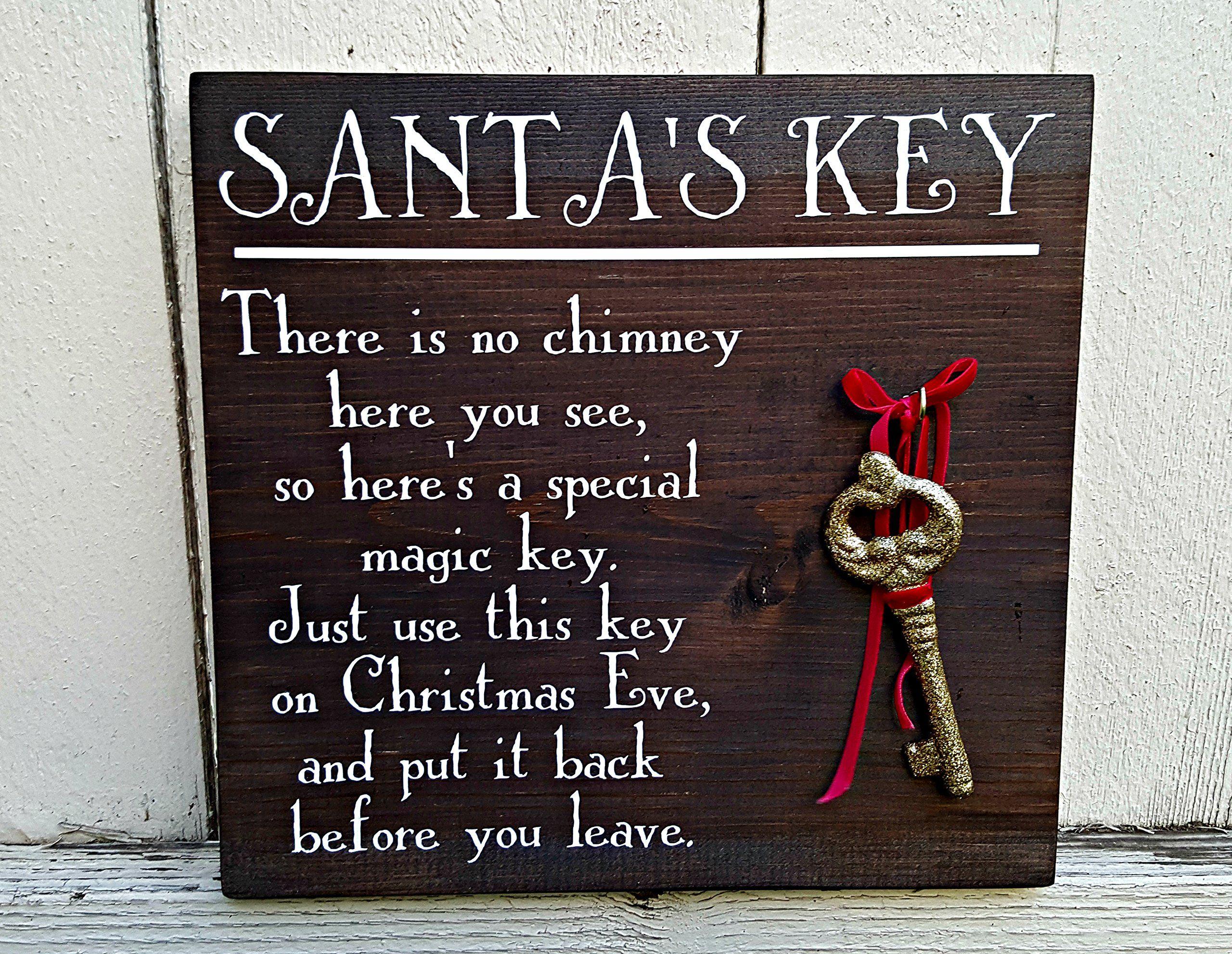 Santa/'s magic key with poem card novelty gift boys girls father christmas key