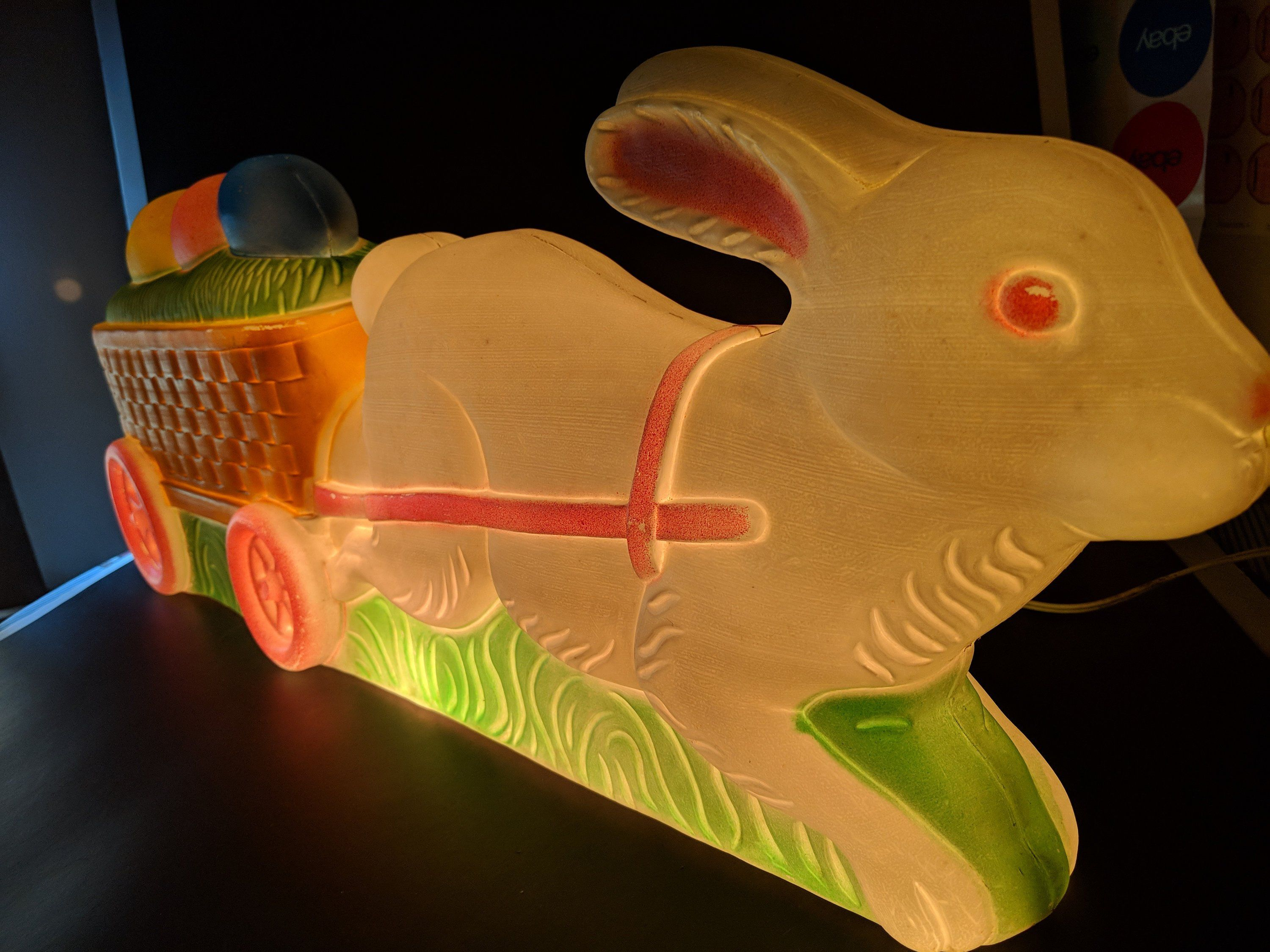 1994 don featherstone union products easter bunny basket