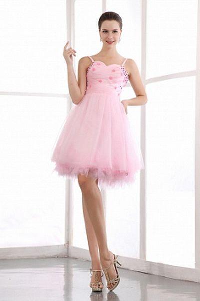 Gurte Tüll Rosa Berühmtheit Kleid kv0890 - Silhouette: Ballkleid ...