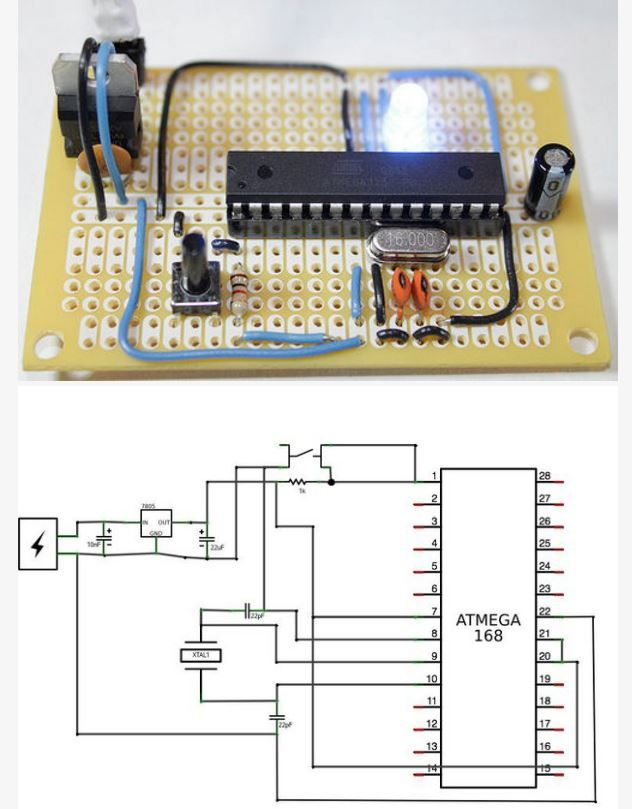 Arduino Board Circuit Diagram | Fabricate Your Own Arduino Board For Permanent Embedding Http Www