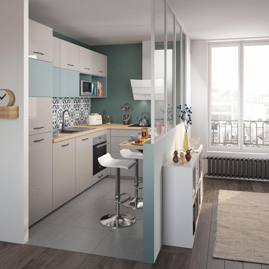 Cuisine Lumineuse Sans Fenetre optimum basilic | aménagement cuisine ouverte, cuisine