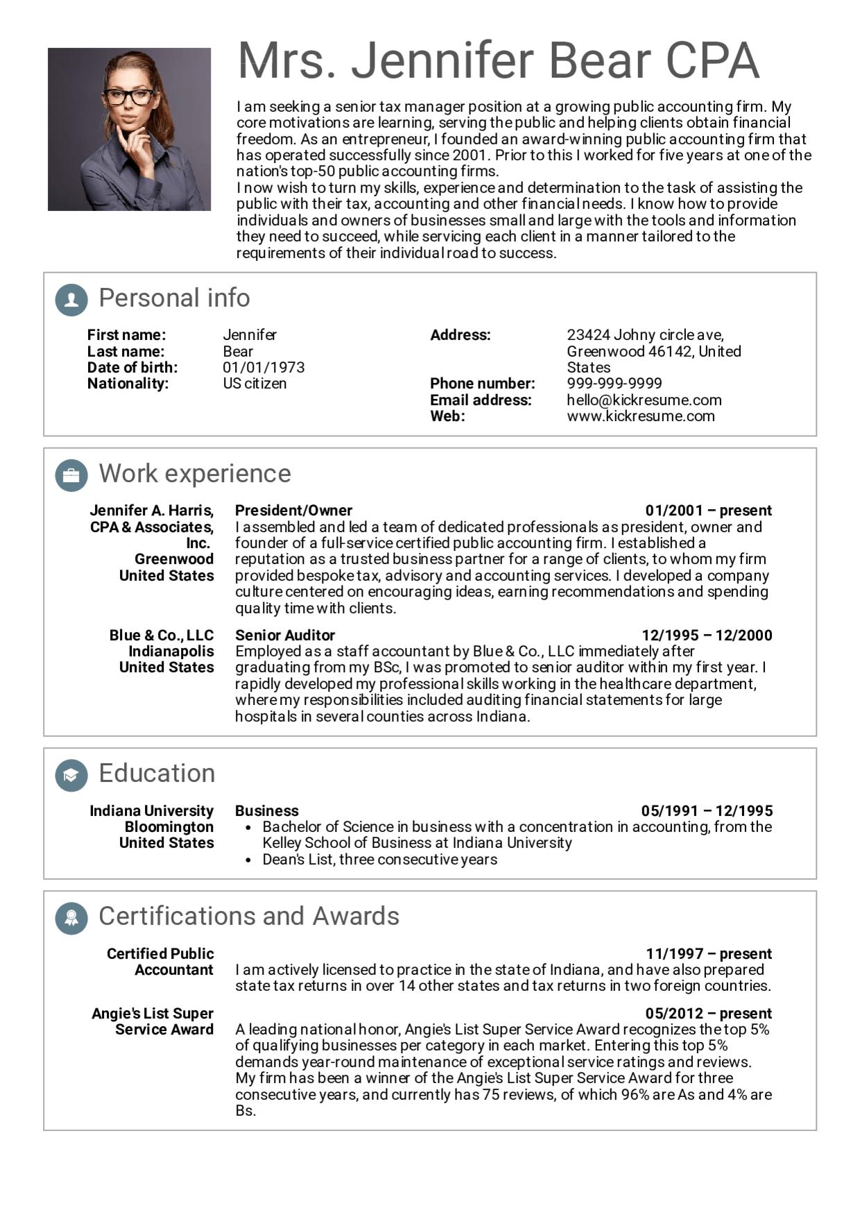 Senior Manager Resume Sample, Senior Manager Resume Sample