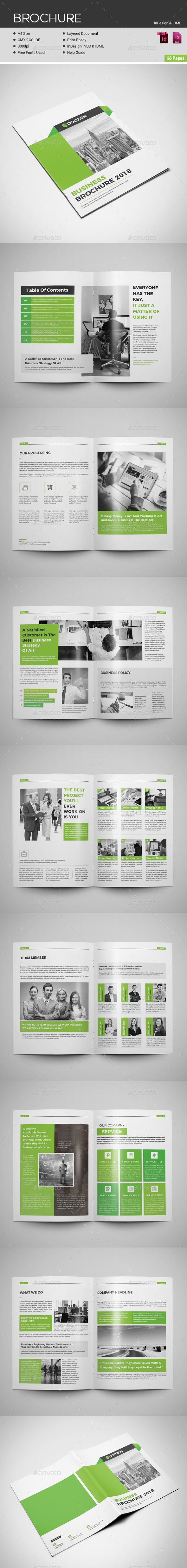 brochure template 16 pages a4 size download https