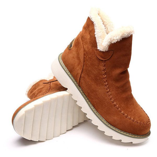 Big Size Pure Color Warm Fur Lining Winter Ankle Snow Boots For Women is  hot-sale. Come to NewChic to buy womens boots online.
