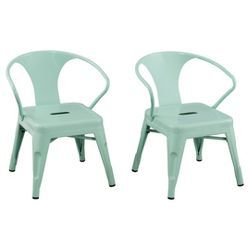 Set of 2 Kids Industrial Activity Chairs Black - Pillowfort™
