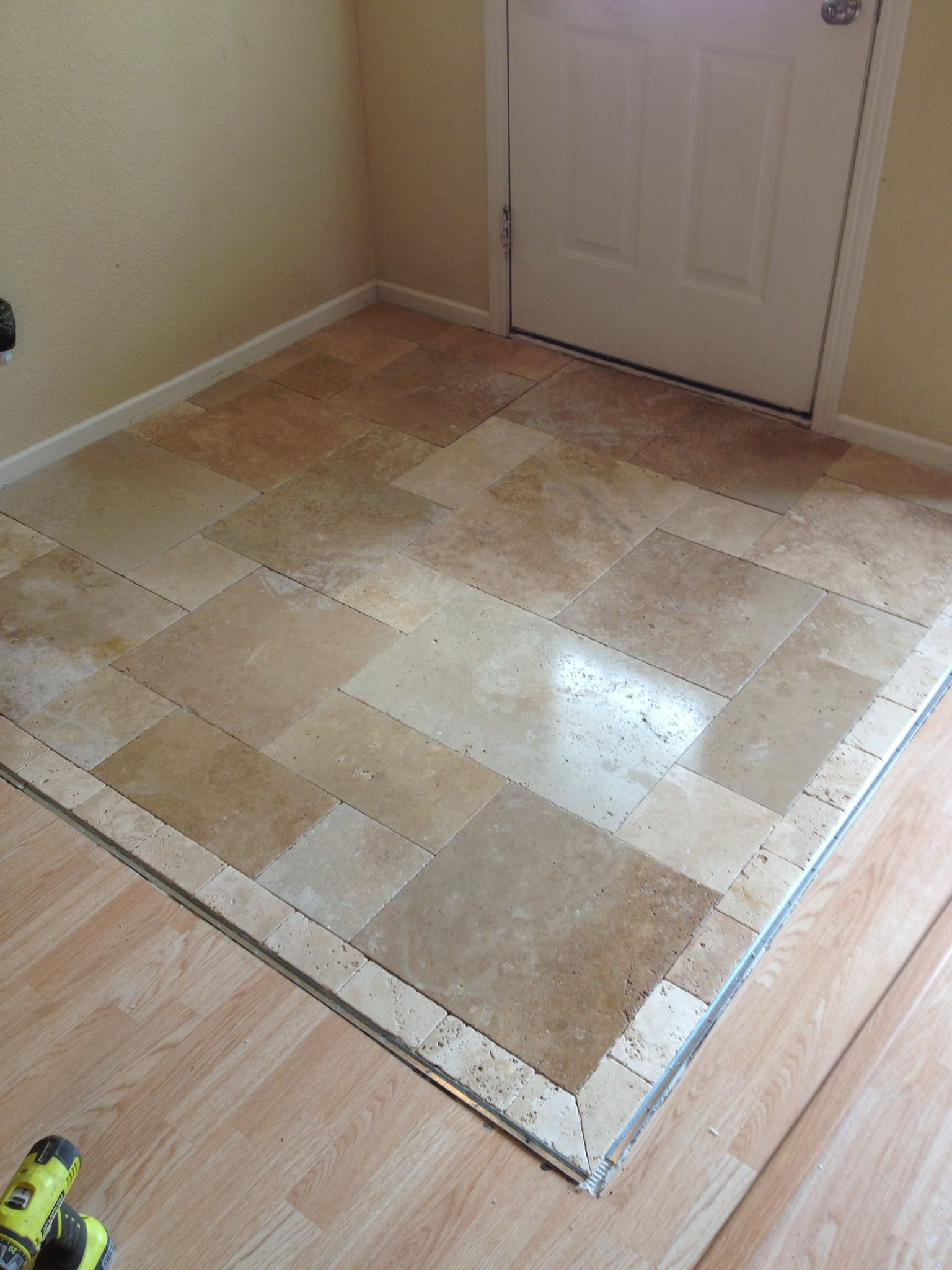Walnut travertine tile entrance my projects pinterest walnut travertine tile entrance dailygadgetfo Image collections