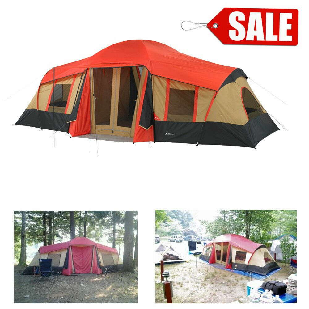 Details about LARGE 3 Room Cabin Tent 10 Person 20'x11