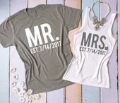 MR and MRS tee shirt and tank top set. Honeymoon shirts. Just Married shirts. We - Awsome Shirts - Ideas of Awsome Shirts #awsomeshirts #shirts -   MR and MRS tee shirt and tank top set. Honeymoon shirts. Just Married shirts. Wedding tank and tee. Bride and Groom shirts. #beachhoneymoonclothes