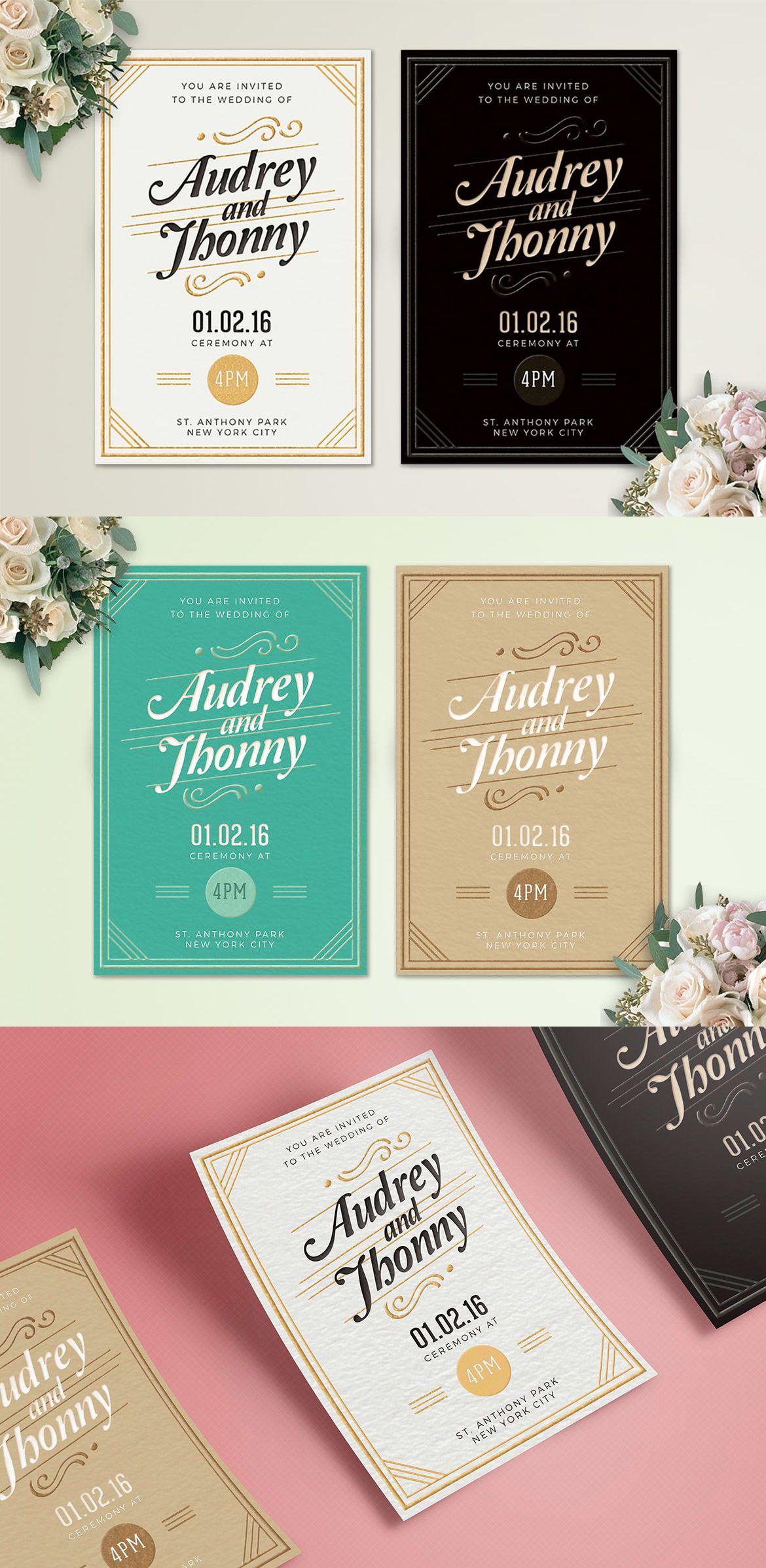 Simple Elegant Wedding Invitation Card Template Ai Psd Simple Elegant Wedding Wedding Invitations Wedding Invitation Card Template