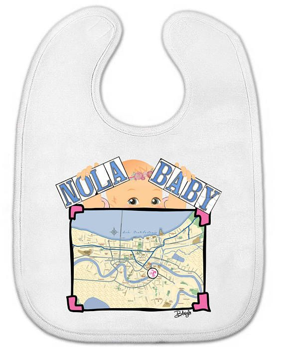 Baby All-in-One Bodysuit OR Bib CUSTOM New Orleans (With ...
