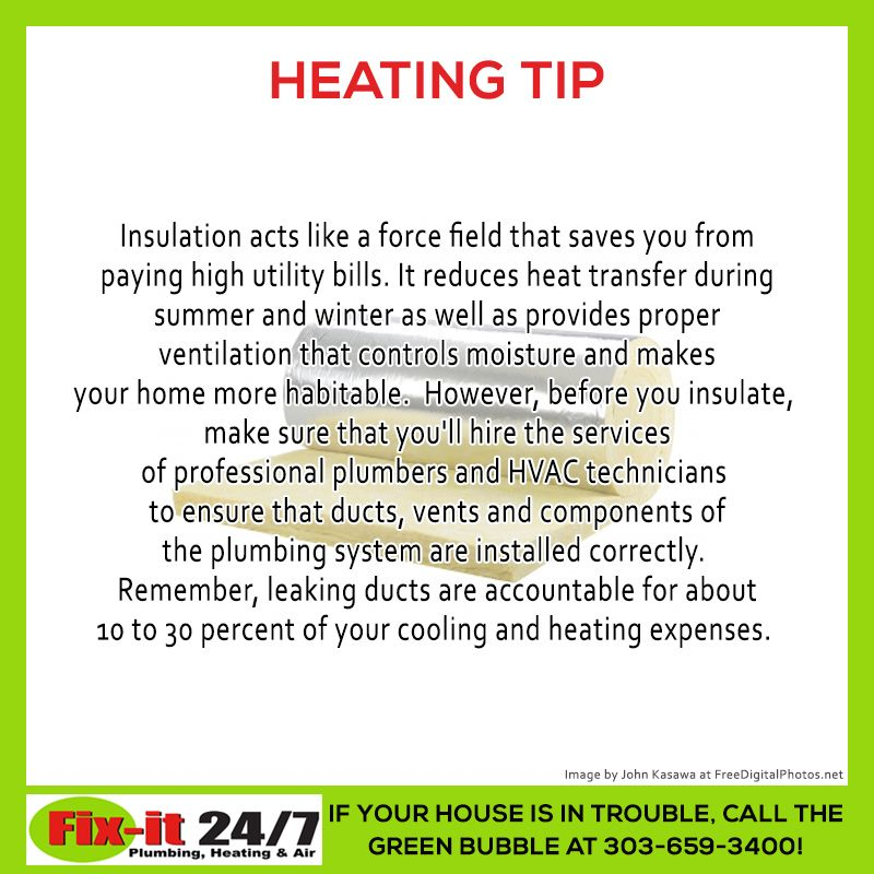 Heating Tips Heat Transfer Insulation