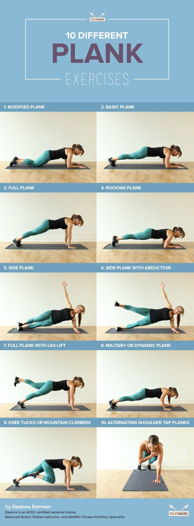 10 Different Plank Exercises For A Stronger Core