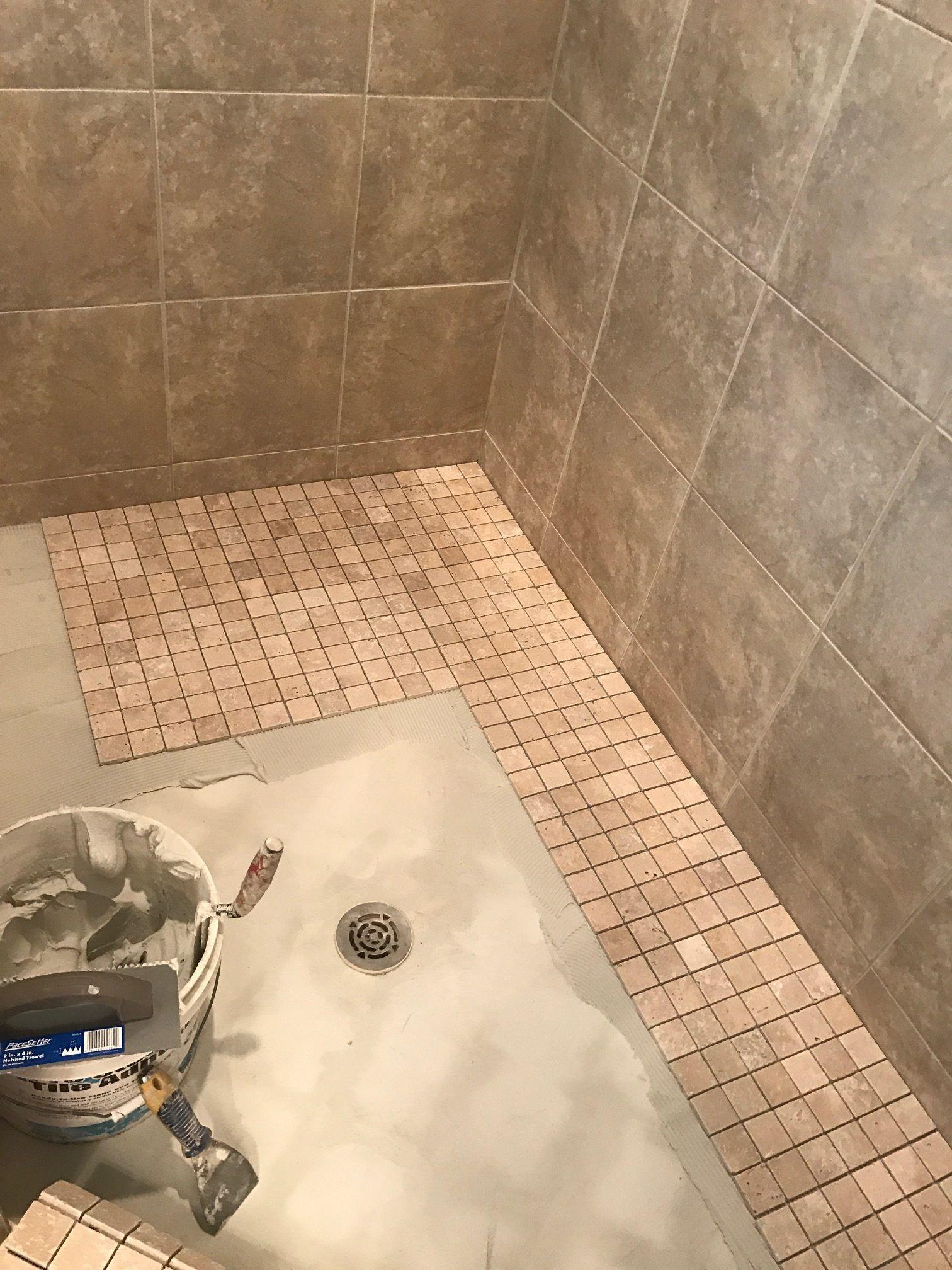 Retiling Shower Floor Shower Floor Bathroom Shower Tile Flooring
