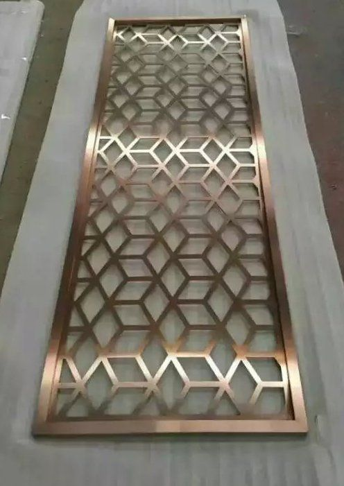 Laser cut pattern metal screen metal work pinterest for Door design cnc