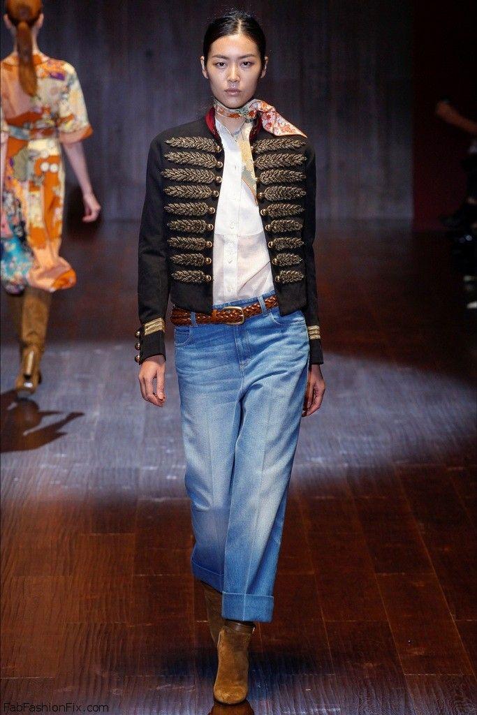 Liu Wen for Gucci spring/summer 2015 collection - Milan fashion week