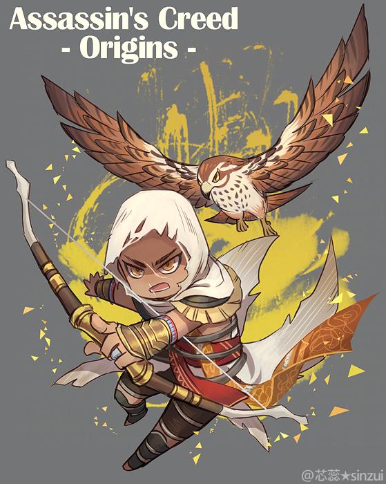 Bayek Senu Eagle Art By Sinzui Assassins Creed Art