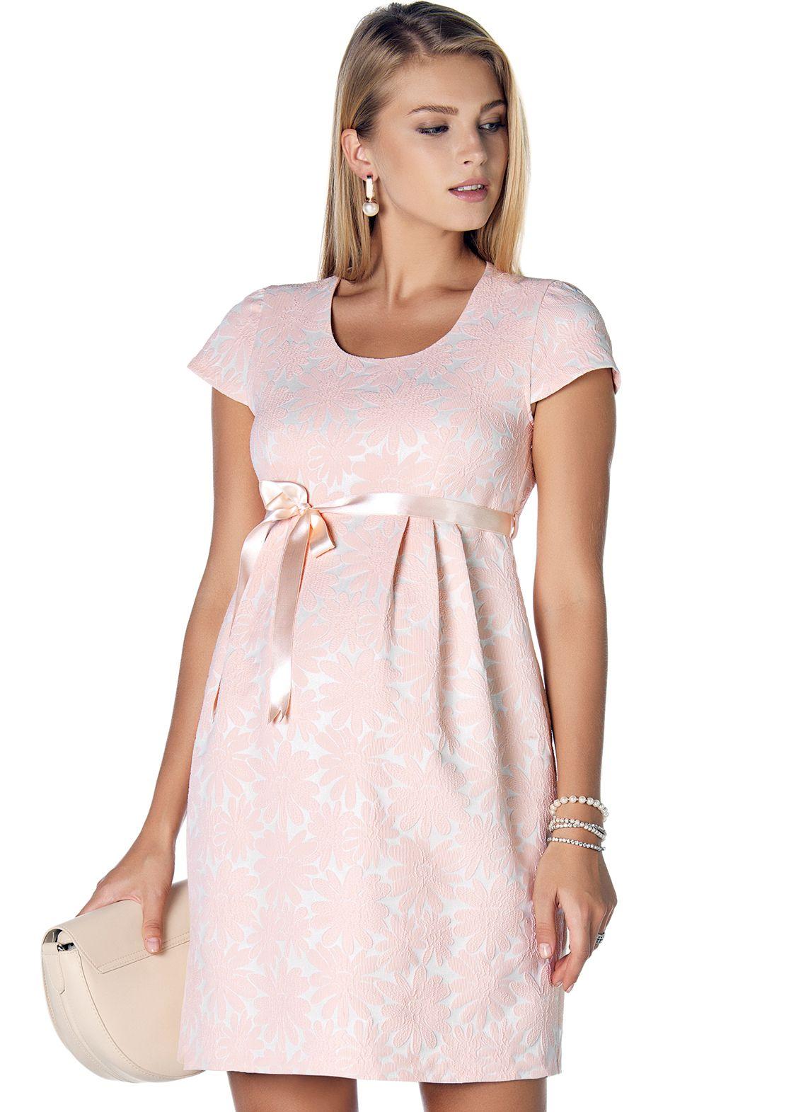 8c4d08c0195 3291 - Çiçek Desenli Jakar Hamile Elbise Pudra ve Hamile Abiye  Kategorimizdeki Onlarca Hamile Giyim Ürünü İçin Ebru Maternity