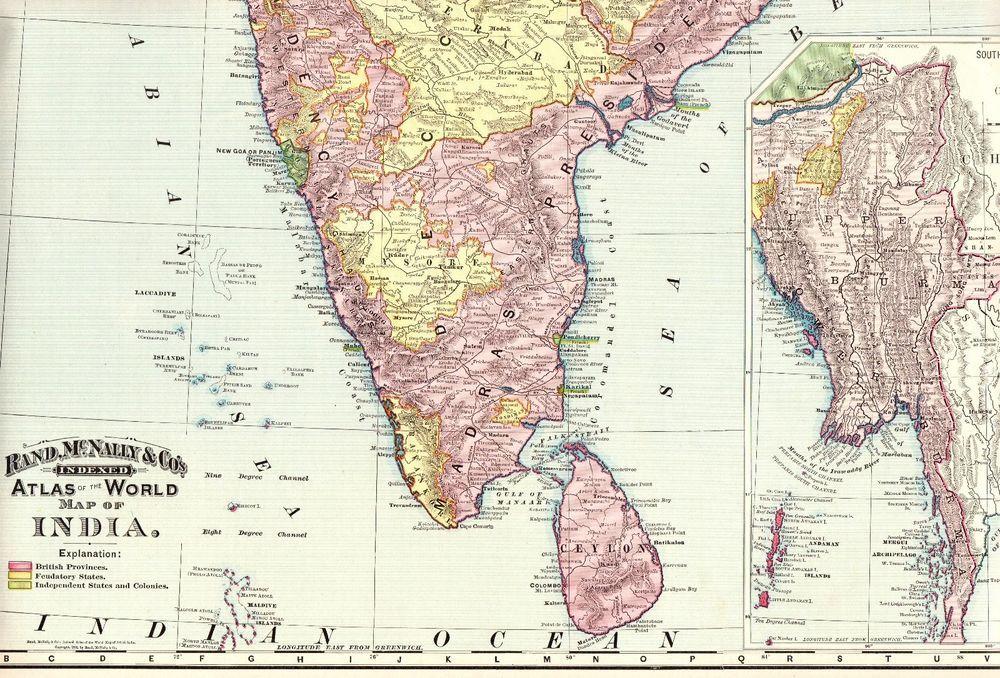 1894 Antique INDIA Map Original Poster Print Size Vintage ... on maharashtra map, indiana county map, indiana state map, tamil nadu map, cape of good hope map, great britain map, brazil map, iran map, india map, european nations map, u.s. regions map, andhra pradesh map, bangladesh map, illinois-indiana map, indian states and capitals, saudi arabia map, french regions map, cyber world map, state capitals map, tonga map,
