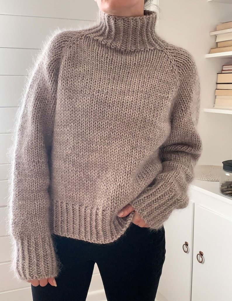Beginner friendly knitting pattern top down sweater pullover ...