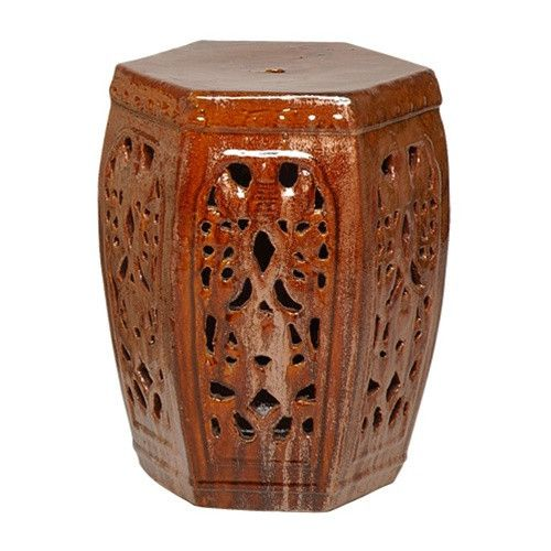 Hexagon Garden Stool With Classic Lattice Design. Use As A Decorative  Accent Indoors Or Outdoors. Perfect As A Stool, Side Table Or Outdoor Patio  Accessory.