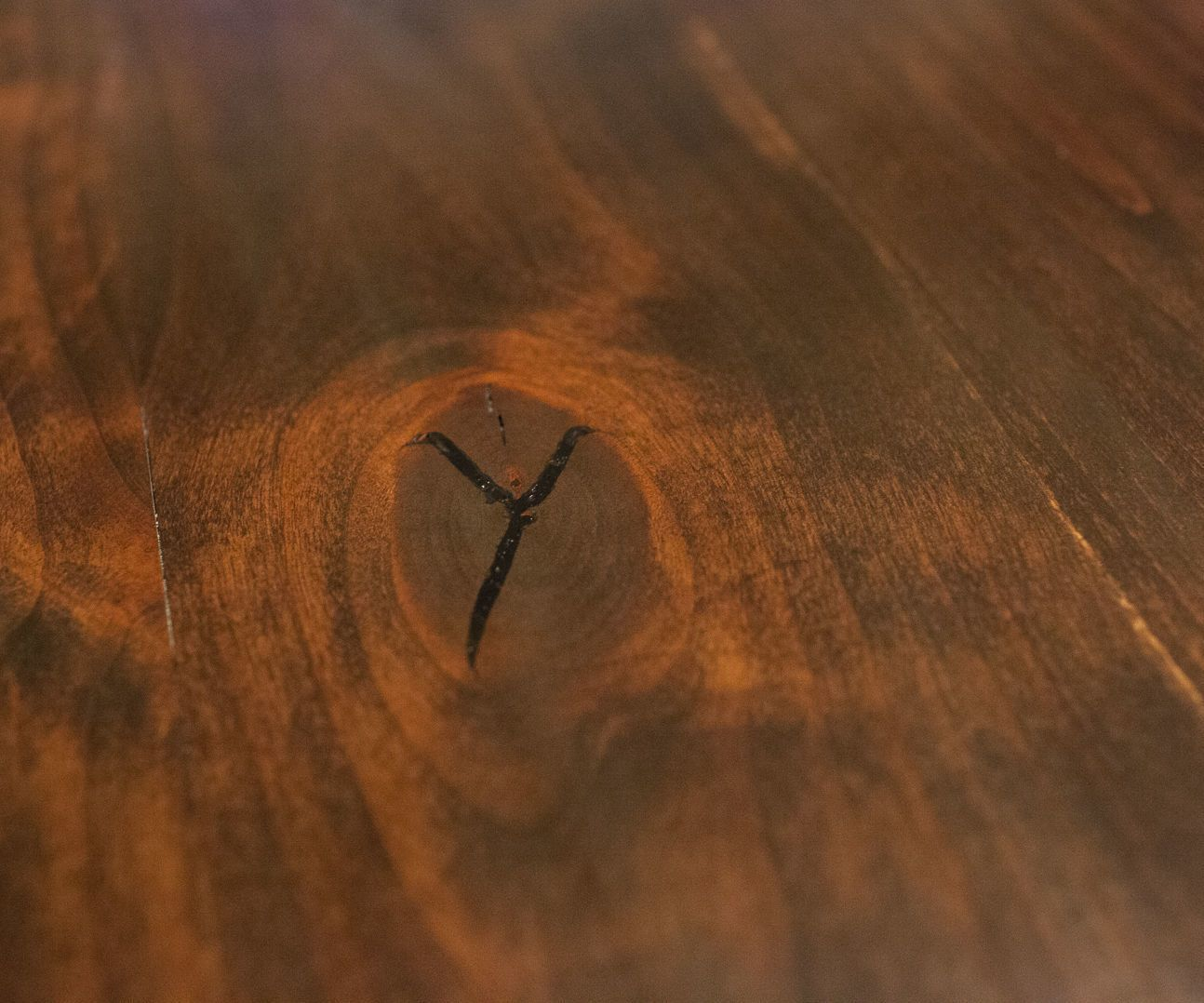 Using Epoxy And Dye To Fill Knots And Cracks In Wood Wood Wood Diy Resin Table