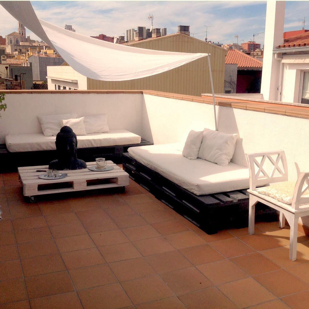 Mi Terraza Chill Out De Palets Terrazza Arredamento Idee Balcone Arredamento Giardino Pallet