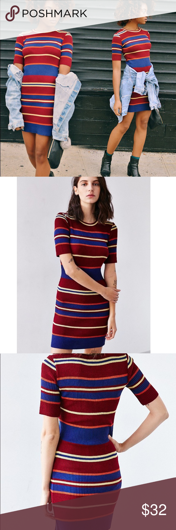 c66c0f8350 Flash Sale⚡️BDG variegated stripe sweater dress BDG variegated stripe sweater  dress multi color. Never worn w/o tag. In good condition just didn't fit .