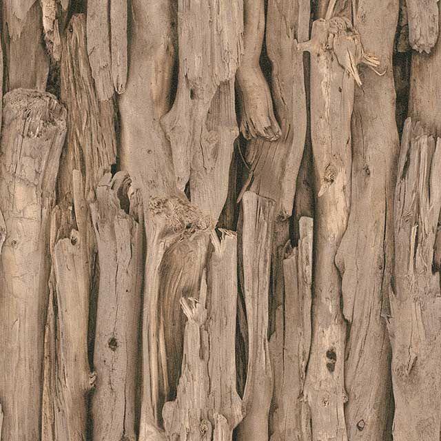 Papier Peint Vinyle Sur Intissé Bois Flotté Beige Mat