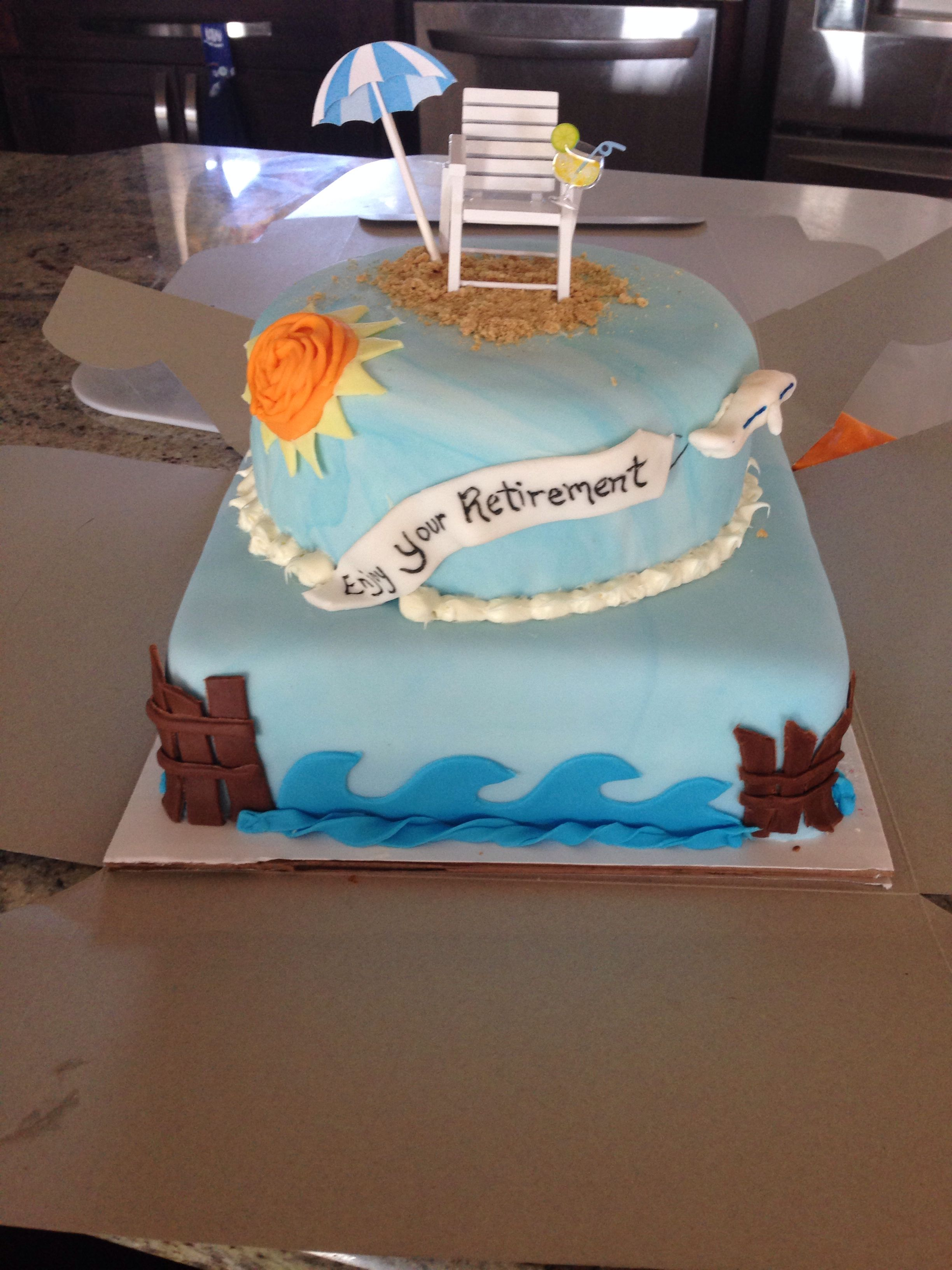 Retirement Cake Beach Theme By Sandra D