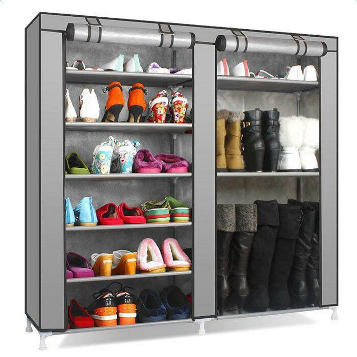 Portable Shoe Rack Boot Shelf Shelves Storage Closet Organizer Cabinet W Cover 6162137206268 Ebay Storage Closet Shelving Storage Closet Organization Shoe Rack With Shelf
