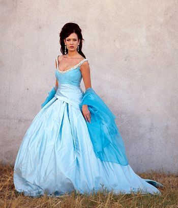 blue wedding dress...would love to have something like this when we ...