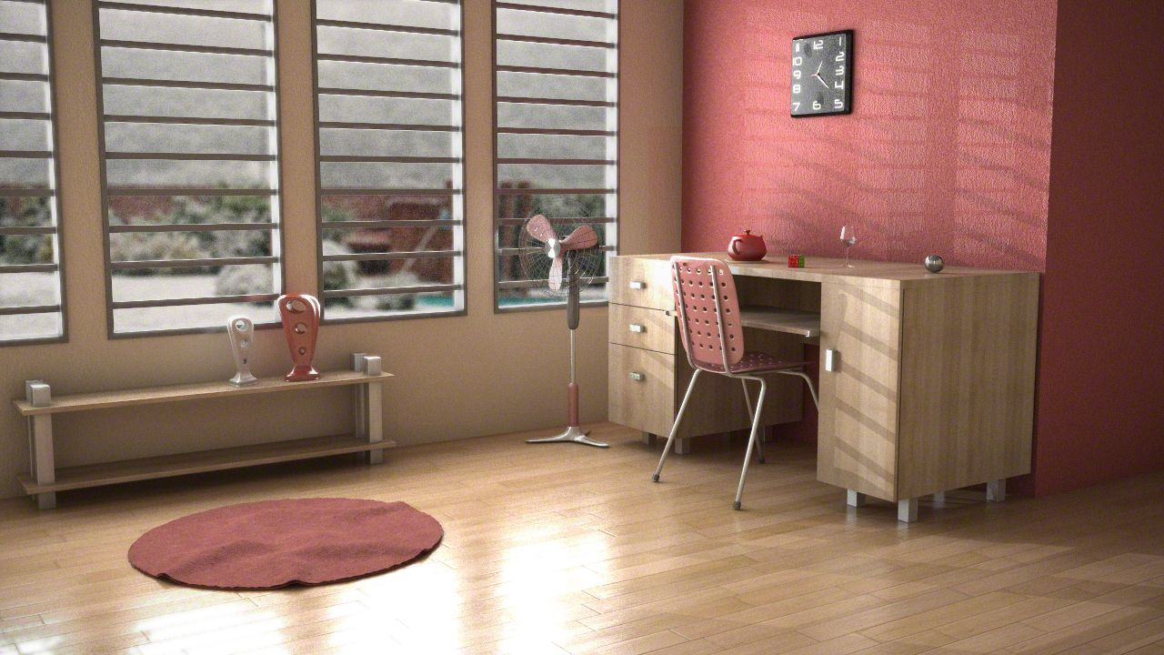 Interior design for red study room picture Interior Design
