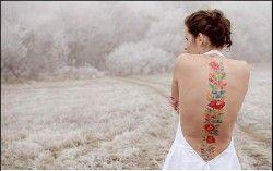 Tatuaż – wzór kwiatowy (Red Lion Tattoo)