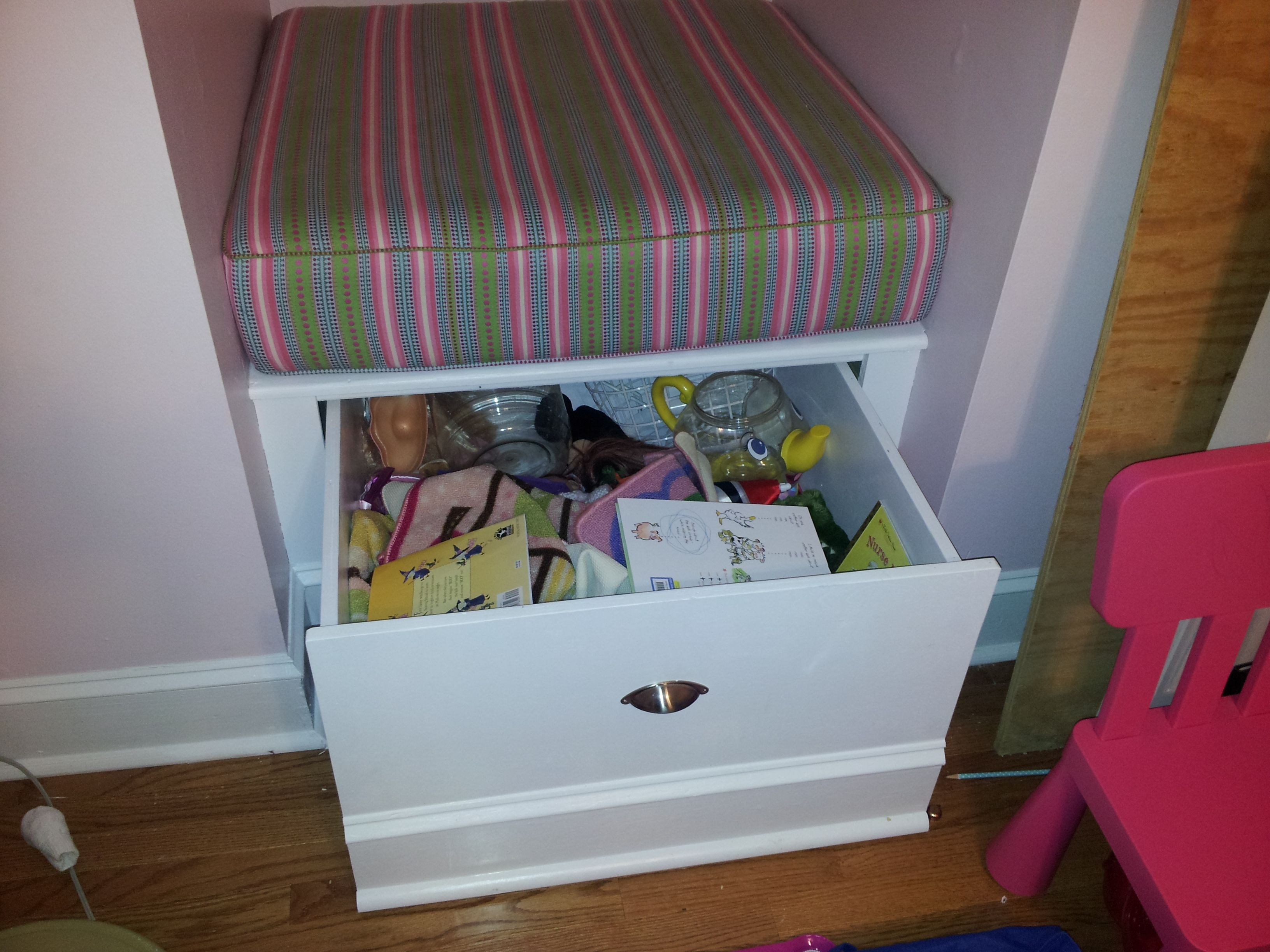 Amazing The Pull Out Toy Box Under Her Dormer Window Seat In 2019 Creativecarmelina Interior Chair Design Creativecarmelinacom