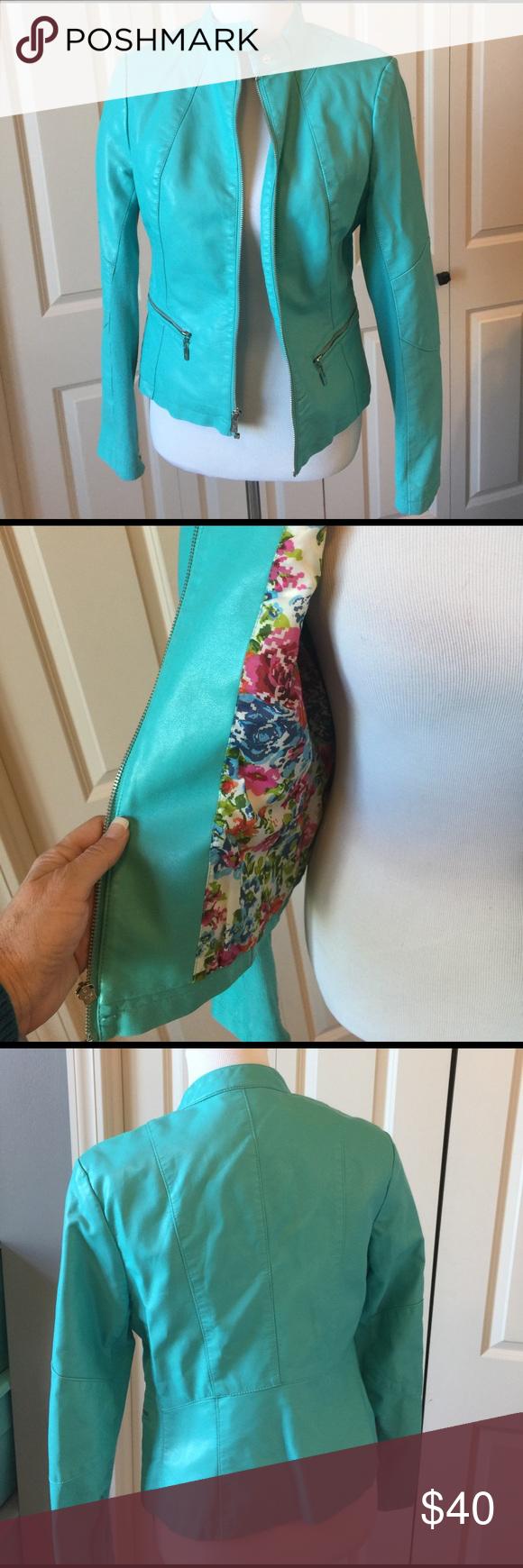 Turquoise jacket Fully lined. 100% polyurethane lining 100% polyester. TS Black Rivet Jackets & Coats