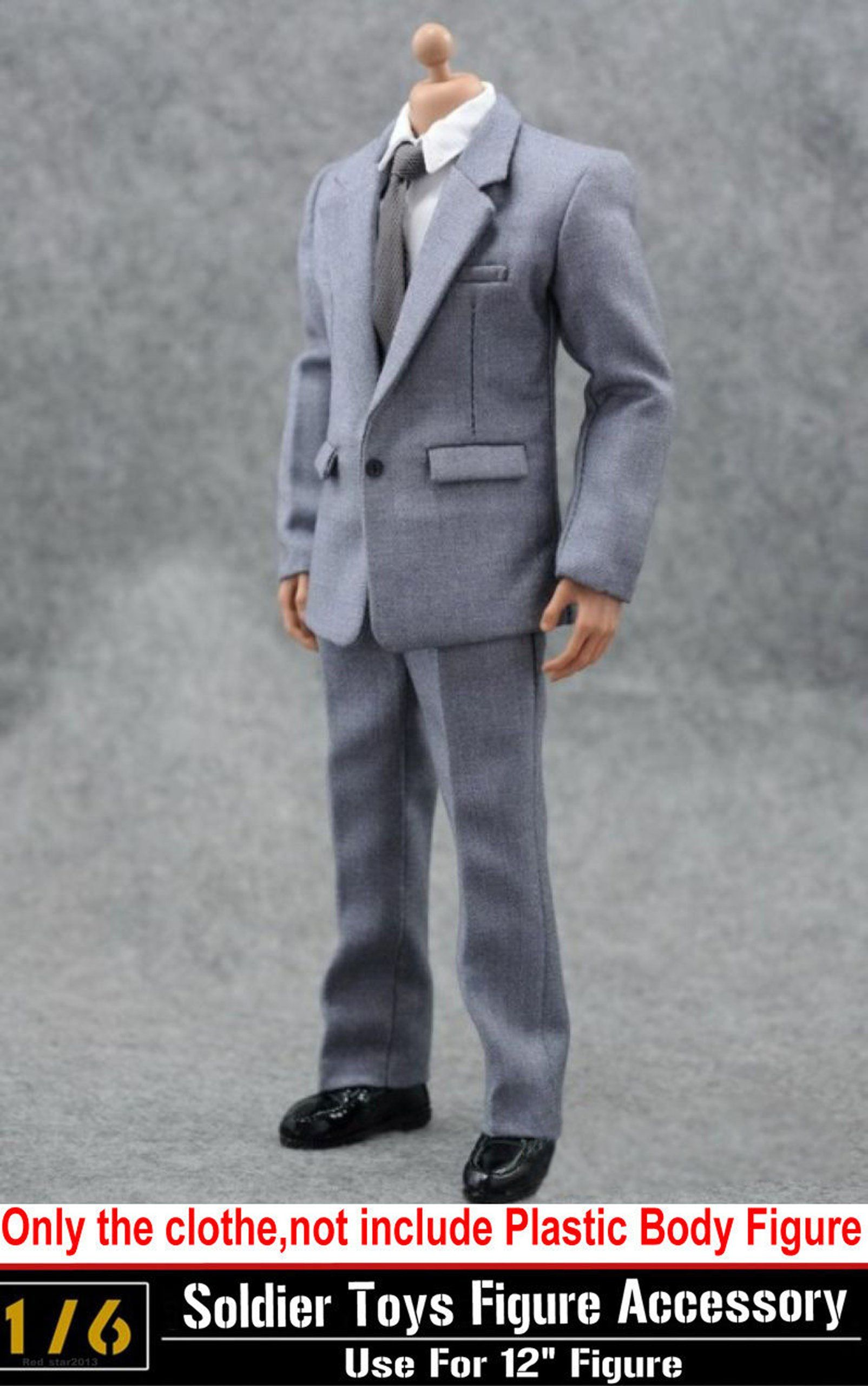 """Men/'s Grey Long Coat Model  For 1//6th 12/"""" Male Action Figure Doll Toy"""