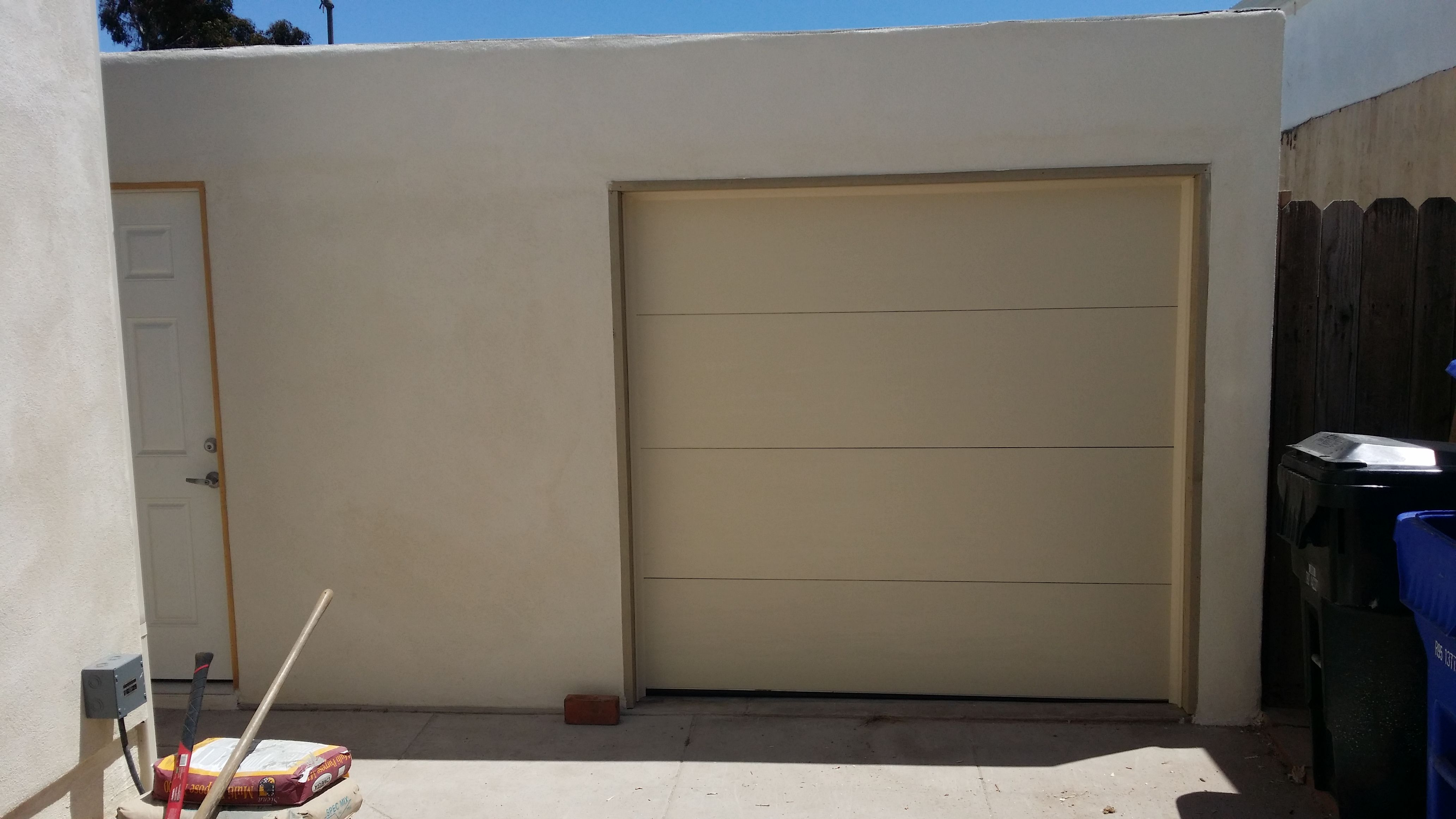 Single car garage door by Mark Christopher in San Diego 888.870.4677