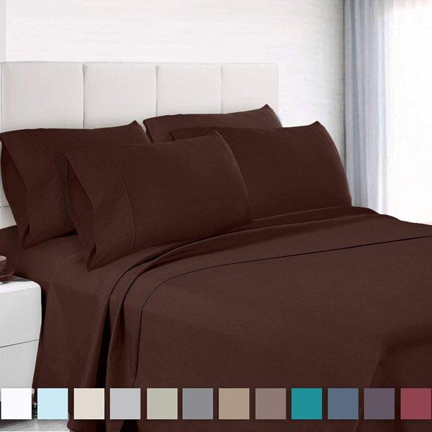 Hotel Quality Large Pocket Soft Microfiber Fitted Sheet Pillcases Flat Sheet Set